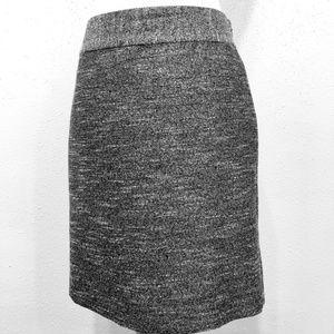 Banana Republic Metallic Silver Pencil Skirt
